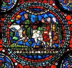 Stained glass window, Canterbury Cathedral, Canterbury, Kent, England