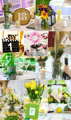 Tischnummern zur Hochzeit: modern