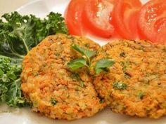 Imagem da receita Hambúrguer de cenoura