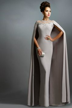 LOVE Prom Dresses Janique Dresses Champange Chiffon Long Mermaid Mother of the Bride Dresses With Cape 2015 Long Formal Evening Gowns abendkleider Mothers Dresses, Bride Dresses, Party Dresses, Occasion Dresses, Dresses With Capes, Wedding Dresses, Dresses 2016, Dresses Uk, Cheap Dresses