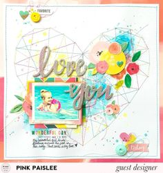 Pink Paislee Guest Designer project - 2016 May; Fancy Free collection by Paige Evans; background made with Shimmerz