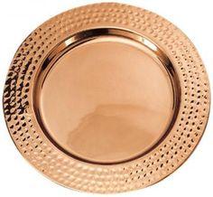 Hammered Rim Charger Plates - Set of 6
