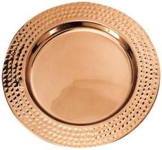 Hammered Rim Charger Plates - Set of 6