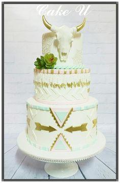 Aztec Inspired Birthday Cake by Veronica - @cakeuvee