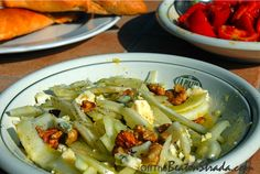 Fennel salad with Gorgonzola and Walnuts