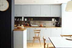 Płytki heksagonalne w kuchni