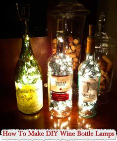 How To Make DIY Wine Bottle Lamps