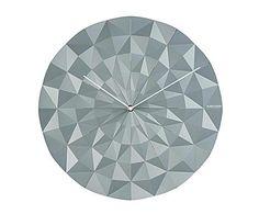 PRESENT TIME: Reloj de pared en plástico ABS, redondo – gris