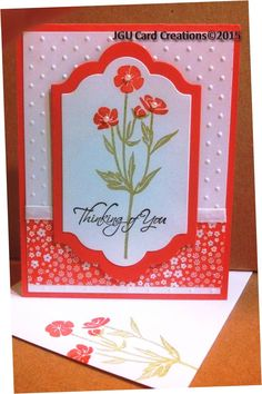 Elegant Thinking of You card made in PJ Card's class using Stampin Up