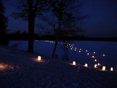 Candlelight ski at Gov. Thompson State Park
