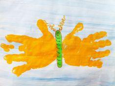 Childrens DIY Craft:  Butterfly Handprints 8inx10in via Etsy