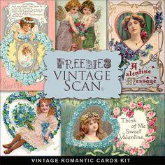 Freebies Vintage Romantic Cards