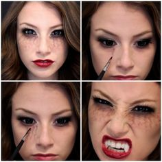 vampire diaries inspired halloween makeup The post Pretty, Beautiful, Sexy & Scary Vampire Halloween Makeup Ideas appeared first on Best Pins for Yours. Yeux Halloween, Halloween Zombie, Halloween Inspo, Halloween Makeup Looks, Halloween Face, Pretty Halloween, Google Halloween, Halloween 2018, Vampire Diaries Costume