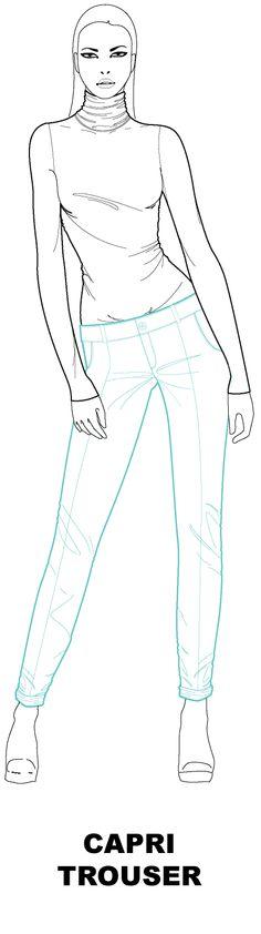 Ralf pink capri trouser