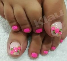 Pedicure Designs, Toe Nail Designs, Nail Polish Designs, Pretty Toe Nails, Pretty Toes, Mani Pedi, Manicure, Hair And Nails, My Nails