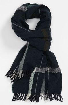 rag & bone Check Wool Scarf available at #Nordstrom