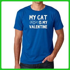 AW Fashion's My cat is my Valentine - Animal Tee Premium Men's T-Shirt (Medium, Royal Blue) - Animal shirts (*Amazon Partner-Link)