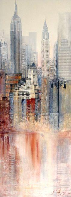 De Gagné De Gagné, Early morning in Manhattan IV, Peinture