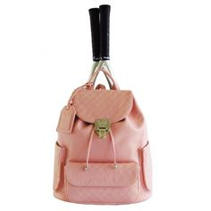 I'm in LOVE with this tennis bag. Hence the reason I work! LOL Court Couture Hampton Backpack (Rose) from Do It Tennis Tennis Bags, Tennis Fashion, Team Gifts, Night Club, The Hamptons, Leather Backpack, Fashion Backpack, Product Launch, Backpacks