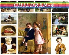 CHILDREN-4 Collection of 209 vintage paintings of kids High