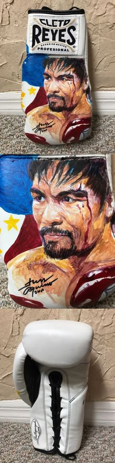 Boxing 1227: Manny Pacquiao Hand Painted Cleto Reyes Boxing Glove Hof Artist Aquino Rare -> BUY IT NOW ONLY: $448.88 on eBay!
