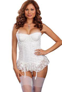 White Bridal Lingerie Tease Me Cincher | Bridal White Lingerie ...