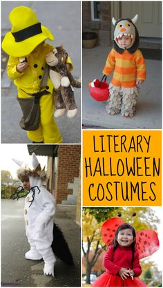 Literary Halloween Costume Ideas - Design Dazzle - - Whether your child is big or little, the world of books may hold the key to their favorite Halloween costume. Here are 15 Literary Halloween Costume Ideas. Literary Costumes, Book Costumes, Book Character Costumes, Cute Costumes, Costume Ideas, Children Costumes, Book Week Costume, Themed Halloween Costumes, Baby Halloween