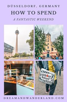These things to do in Düsseldorf,  Germany will help you plan the perfect 2 days in Düsseldorf itinerary. From shopping at worlds famous Königsallee, get a 360 panorama view from the Rhine Tower, discover its Altbier scene, or relaxing at the river Rhine. #germany #europetravel #thingstodo #europe #travel #urlaubindeutschland #germanytravel #vacationingermany #dusseldorf #tipps