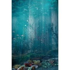 premade_bg_under_the_sea_1_by_gin7gin8-d46e5hr.jpg ❤ liked on Polyvore featuring backgrounds and water