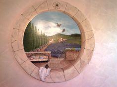 veduta provenzale.acrilico su legno-Cristina Lissiotto