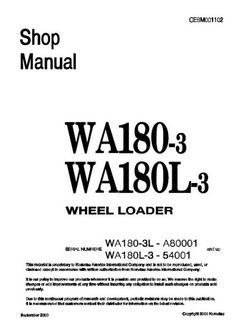 Komatsu WA250-1LC Wheel Loader (A65001 and up) Shop Manual