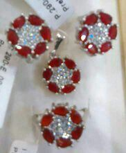 Ruby and white zircon