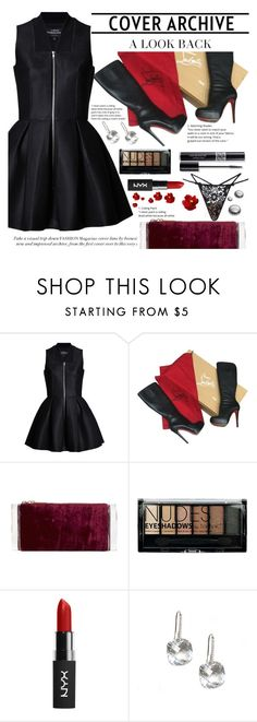 """""""Untitled #1914"""" by anarita11 ❤ liked on Polyvore featuring Lavinia Cadar, Christian Louboutin, Edie Parker, Boohoo, Christian Dior and For Love & Lemons"""