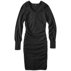 Mossimo® Women's Ultrasoft Ruched Long Sleeve Sweater Dress - Assorted Colors