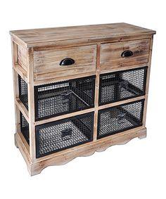 This Wire Basket Wooden Dresser is perfect! #zulilyfinds