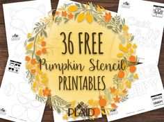 Free Pumpkin Stencil Template Printables for Fall!