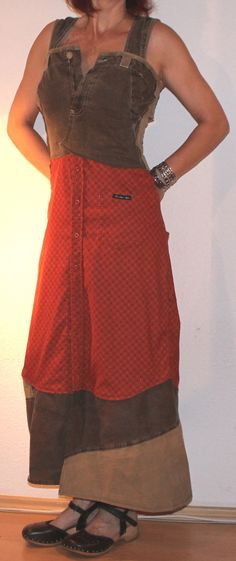 Maxi dresses - fancy orange / brown summer dress - a designer piece of s-he-does on DaWanda