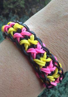 Rainbow Loom Bowtie Bracelet by SmallKidJewleryCraft on Etsy, $2.99