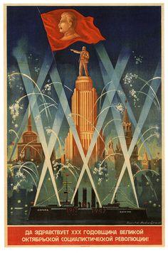 "Anniversary of the Great October Socialist Revolution!"" – 🇱🇻 Soviet poster from Latvia, published in 1947 to commemorate the October Revolution of Communist Propaganda, Propaganda Art, Cover Design, Revolution Poster, Socialist Realism, Political Posters, Russian Revolution, Soviet Art, Cool Posters"