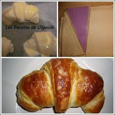 He repetido esta receta formando los croissants con una plantilla casera de 20cm x 10cm y sinceramente...el rodillo para croi... Croissants, French Toast, Breakfast, Food, Daisies, Beer Batter, Homemade Recipe, Sweet Recipes, Breads