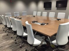 Williamson County Safety Building (Franklin, TN) WaveWorks conference table with Epic panel base and Lavoro seating in conference room. #NationalOffice