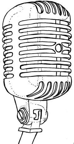 Vintage, Old School, Retro Can Microphone Tattoo by ~Metacharis on deviantART
