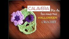 CALAVERA día de los muertos - Halloween CROCHET (diestro)