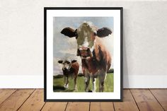 Cow Painting, Cow Art, Cow PRINT - Cow Oil Painting, Holstein Cow, Farm Animal Art, Farmhouse Art, Prints of Farm Animals, Farm Wall Art by JamesCoatesFineArt2 on Etsy Swan Painting, Cow Painting, Wine Poster, Dog Poster, Dog Lover Gifts, Dog Gifts, Holstein Cows, Cow Art, Pictures To Paint