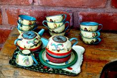 Litho Tea Set  22 Piece Jack and Jill by Ohio Art by TheNerdNest.