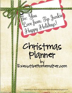 Christmas Planner Includes:  Party Planner – Organize December birthdays, Family Picture, Parties, and gifts to have on hand.  Family Gift Planner – Keep track of gift ideas for each person in your family year round.  Extended Family Planner – This worksheet will help you make gift giving to your extended family easy!  Friend Gift Planner – Keep track of the smaller details like: Goody plates, Teacher gifts, and Emergency gifts.  Memory Planner – Quickly keep record of the wonderful memories…