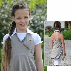 Pom Pom Yade Taupe Dress