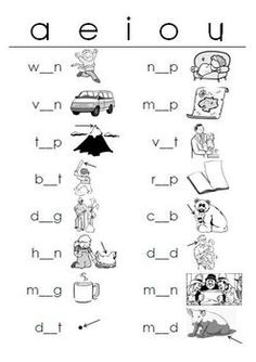 Short Vowels WORKSHEETS Fill-in-the-Blanks(Distinguishing Short Vowel Sounds)This package includes 8 different worksheets, an answer key for each, plus a simple strategy to help students remember the short vowel sounds. The first six worksheets contain CVC (three-letter, Consonant-Vowel-Consonant) words.
