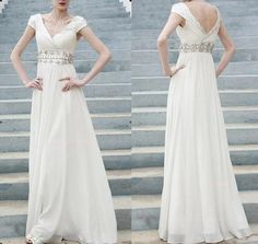 sexy A-line chiffon prom evening dress Women Pageant Dress Homecoming Dress on Etsy, $137.00