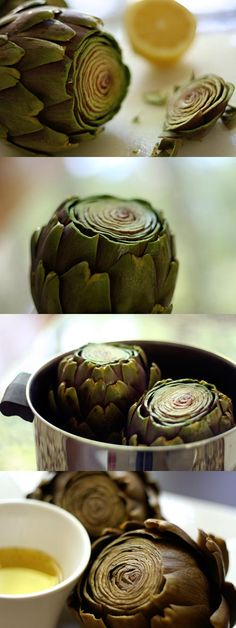 How to Eat an Artichoke Used to try to make these with daughter Alissa.i wish I knew this then. We loved them anyway but this is great! Veggie Recipes, Vegetarian Recipes, Cooking Recipes, Healthy Recipes, Vegetable Dishes, Food Hacks, Love Food, Delish, Food And Drink